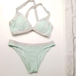 Sporty Mint Green Triangle Bikini